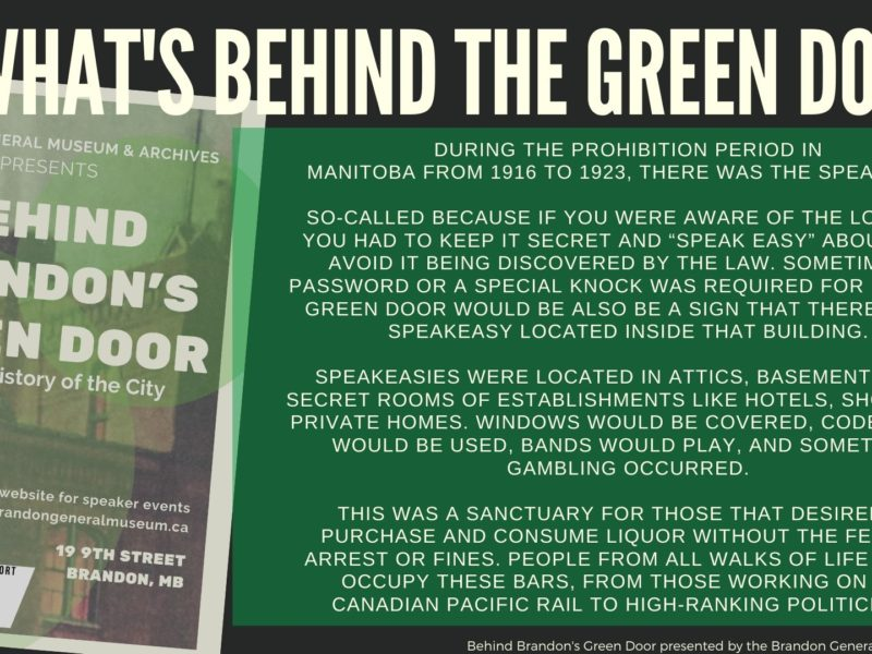 Behind Brandon's Green Door: Bottling History of the City, Online Presentation