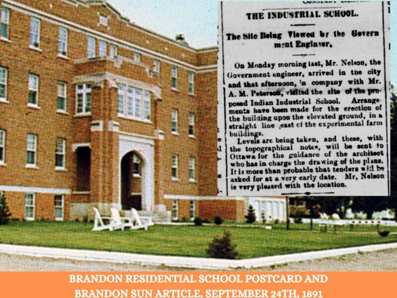 Brandon's Residential School, Online Educational and Archival Resources
